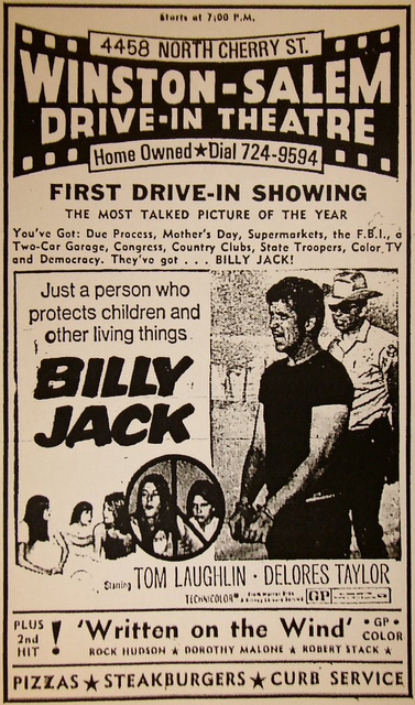Drive-in ad billy jack