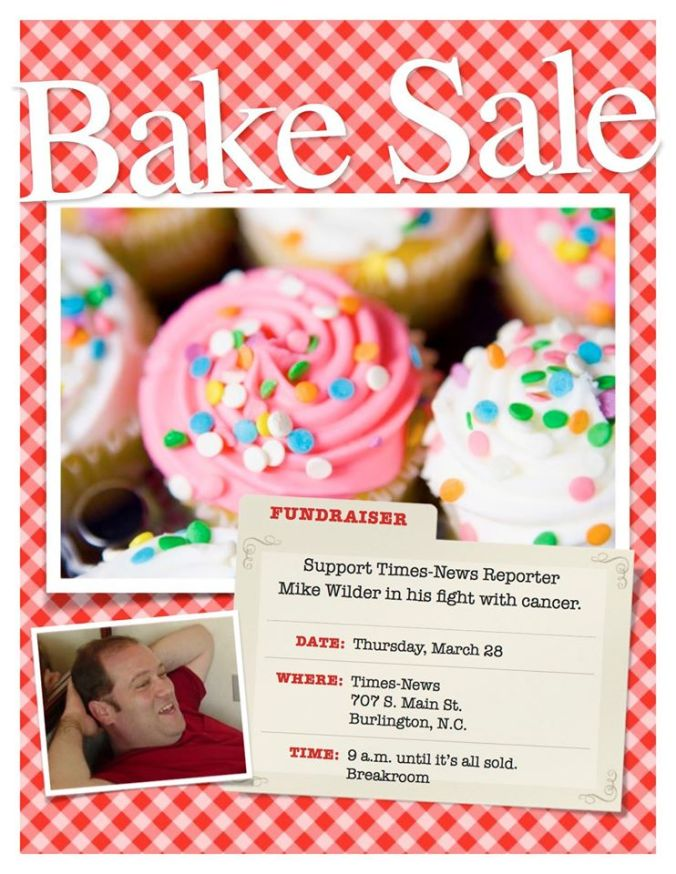 TN mike bake sale poster