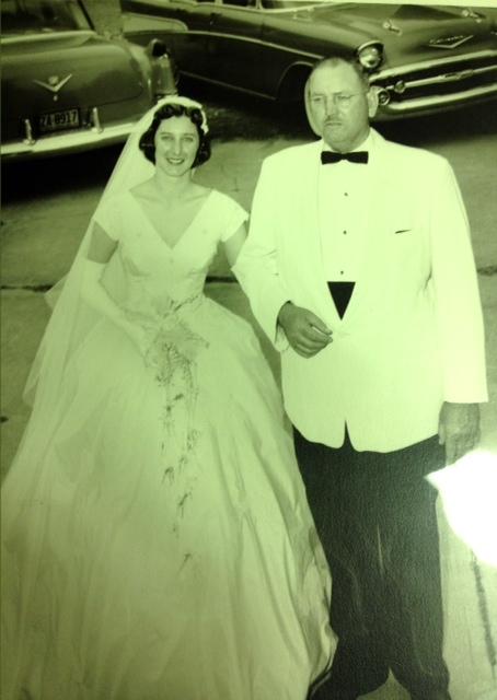 Ed and Barbara wedding Barbara and papa