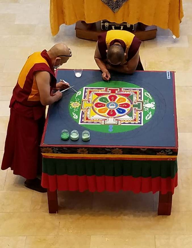 mandala monks