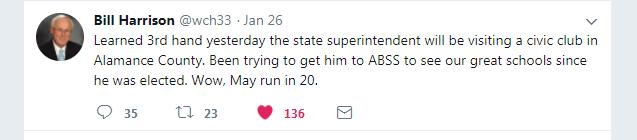 Harrison tweet