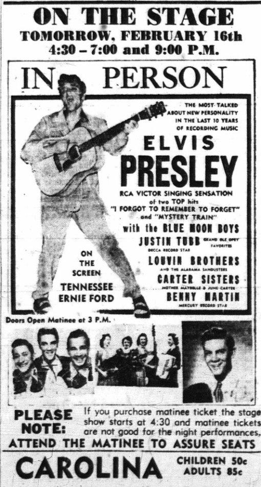 Elvis 1956 carolina