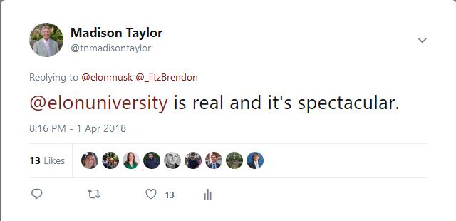 Madison elon tweet