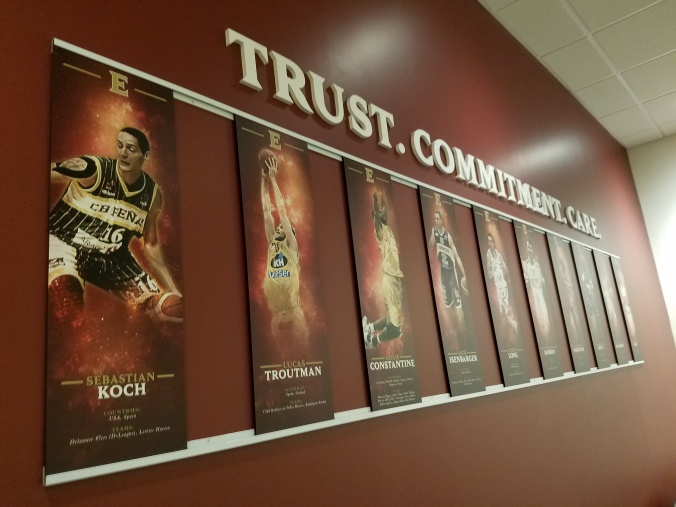 2018 Schar center lockerroom signs