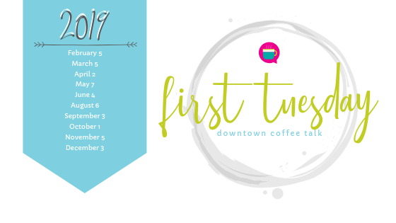 First Tuesday Dates 2019 Logo