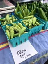 Beer works farmers market okra