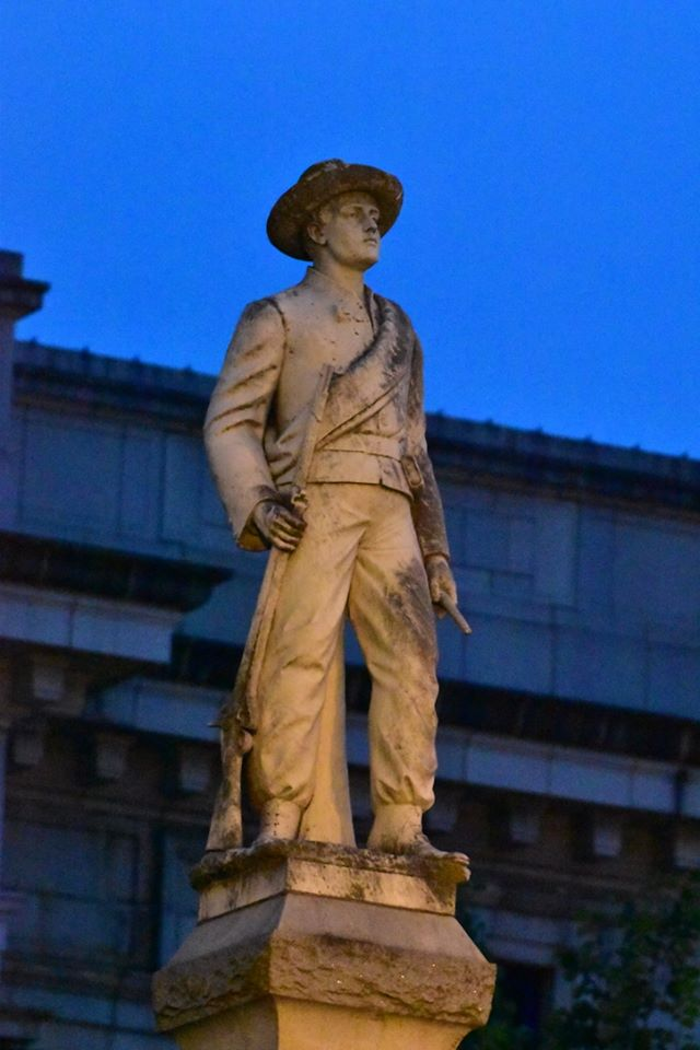 Confederate statue in graham