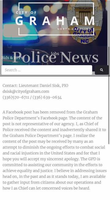 Graham PD statement